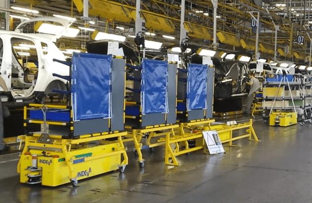 AGV INDEVA per velocizzare il processo produttivo ed evitare operazioni ripetitive.