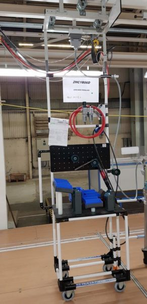 Lean Manufacturing trolley for automotive industry