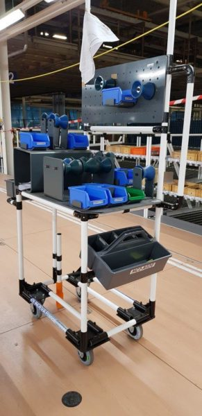 work station trolley for Lean Manufacturing  automotive industry