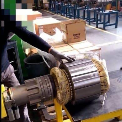 posizonamento preciso di un rotore nell'alloggiamento di uno statore