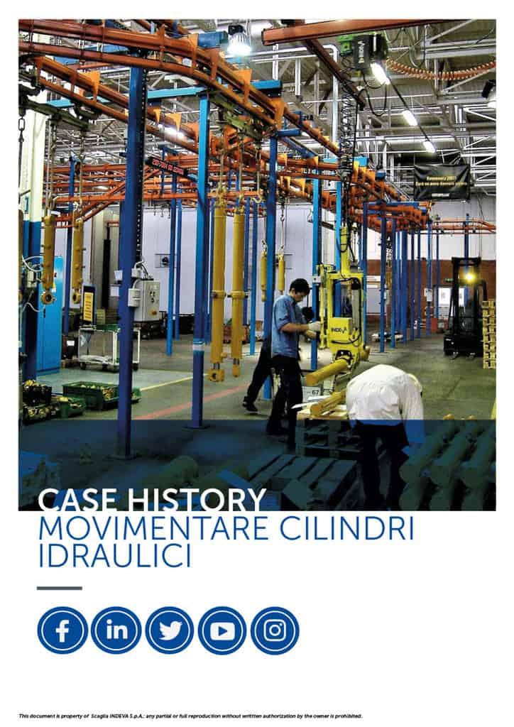 I case studies di Indeva: movimentare con sicurezza e precisione i cilindri idraulici, aumentando la produttività in azienda.