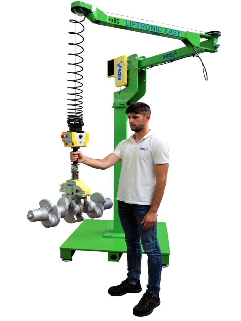 Liftronic Easy-6-manipolatore industriale montato a colonna con braccio e fune-autobilanciante