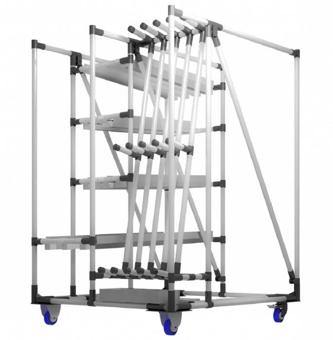 I carrelli porta pezzi modulari proposti da INDEVA sono ideali per la risoluzione di numerose problematiche e necessità, completamente personalizzabili per ovviare a qualsivoglia richiesta.