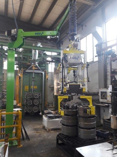 manipolatore per movimentare ingranaggi cilindrici dentati in sicurezza