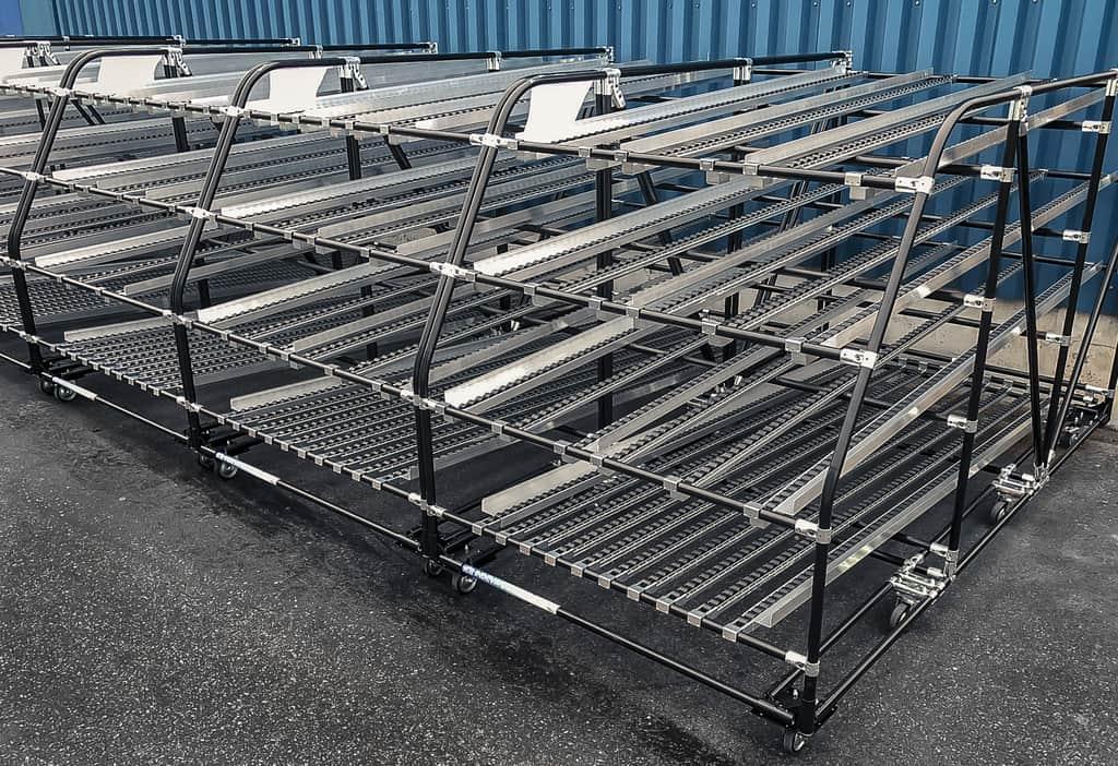Le nostre rulliere dinamiche danno la possibilità di utilizzare lo spazio disponibile nei reparti di immagazzinaggio e produzione nel migliore dei modi