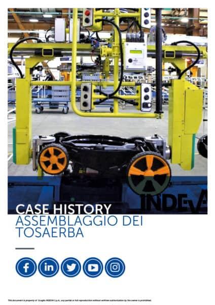 I case studies di Indeva: assemblare con sicurezza e precisione i tosaerba, aumentando la produttività durante il ciclo di lavoro in azienda.