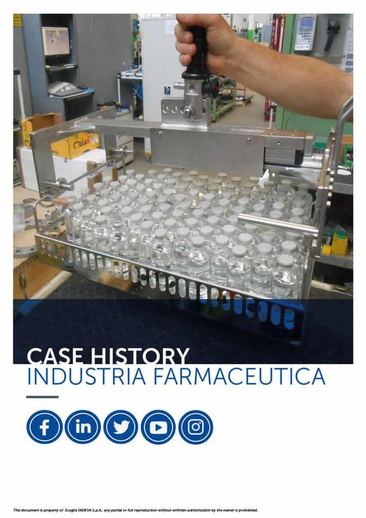 I case histories di INDEVA: movimentare articoli nell'industria farmaceutica in totale ergonomia e sicurezza, aumentandone la produttività.